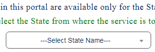 Driving License Select State